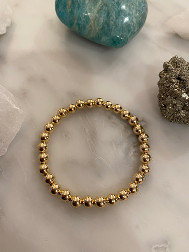 Gold Filled Ball Bracelet 6mm