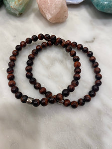 "TIGERS EYE ""CLASSIC"" Men's Logo Bracelet"