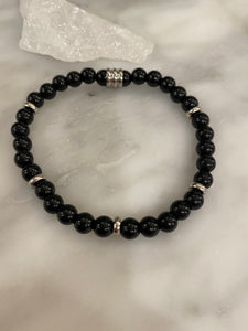 Men's Onyx + Silver Spacers