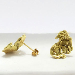 Lori Kaplan Jewelry 18K Popcorn Earrings