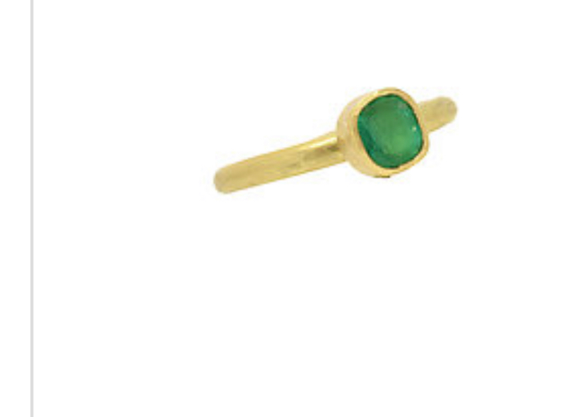 Emerald Greek ring 18k