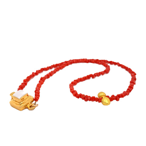 Mediterranean  Coral Necklace