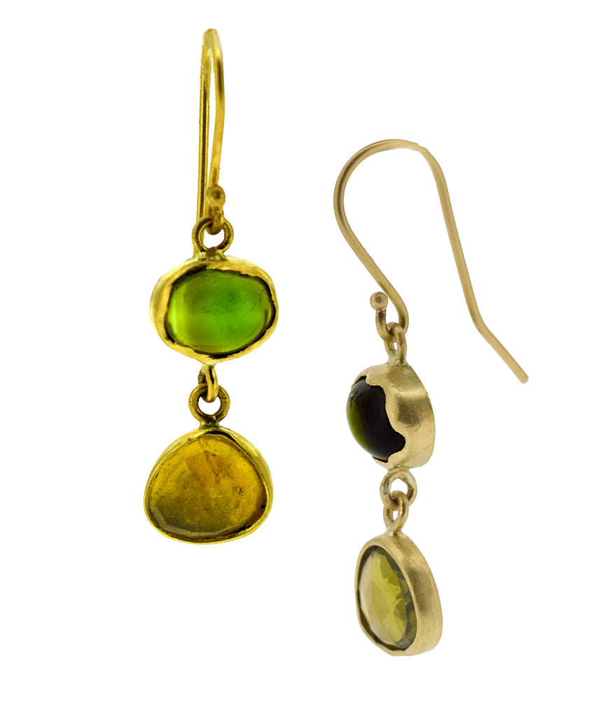 Tourmaline Earrings in 18K gold