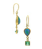 Opal Emeralds 18K Gold Earrings