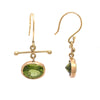 Peridot Gold Earrings