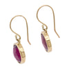 Rhodolite Garnet Gold Earrings