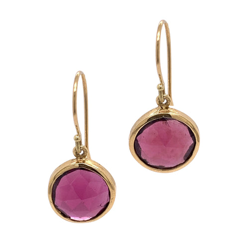 Rhodolite Gold Earrings
