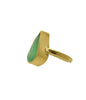Chrysoprase 18K Gold Ring