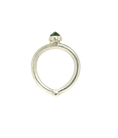 Emerald Sterling Heart Ring