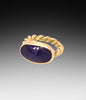 Tanzanite Rope Ring