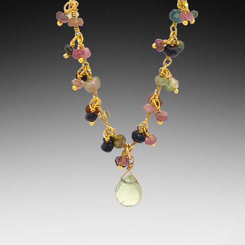 Tourmaline Prehnite Necklace