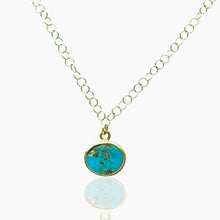 Load image into Gallery viewer, Persian Turquoise Gold Choker