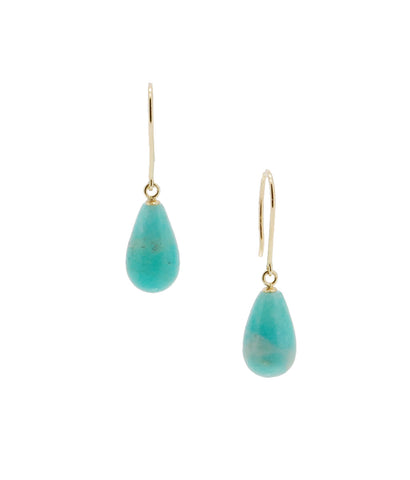 Smooth Drop Amanzonite Earrings