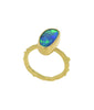 Boulder Opal Gold Stacking Ring