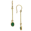 Art Deco Emerald Gold Earrings