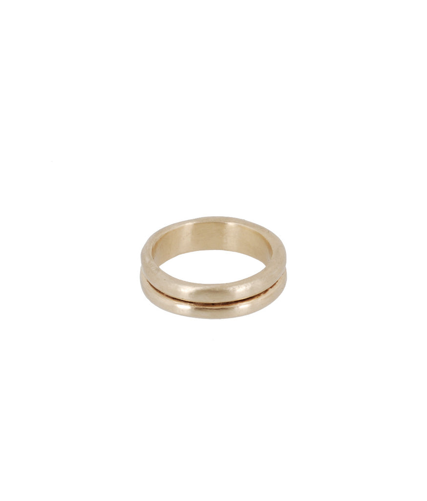 10K Gold Double Band Stacking Ring