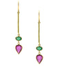 Ruby and Emerald Drop Earring