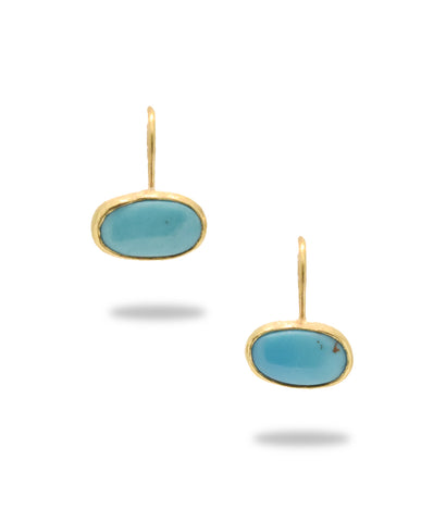 Kingman Turquoise 18K Earrings