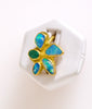 Opal Emerald Flower 18K Ring