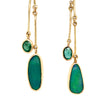 Opal Emerald 18K Earrings