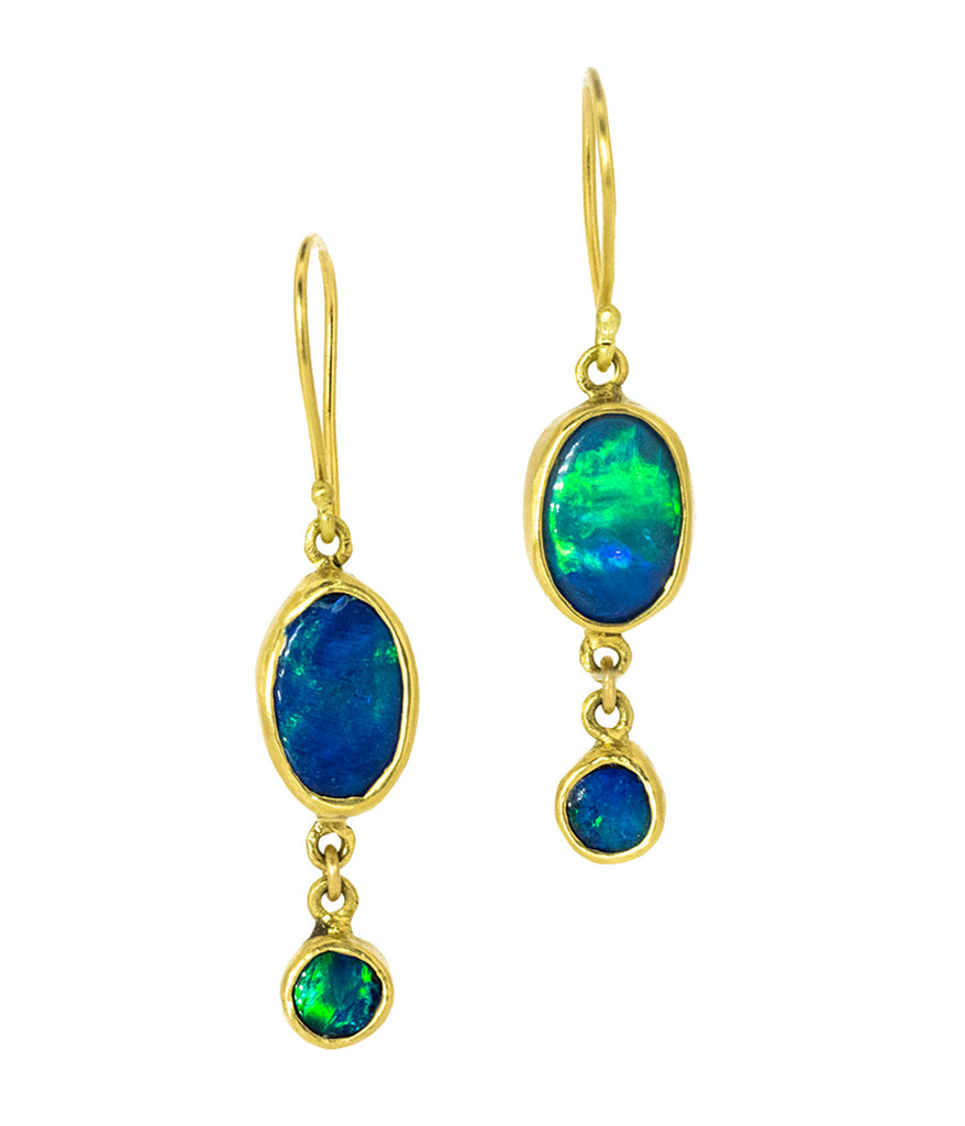 Opal 18K Drop Earrings