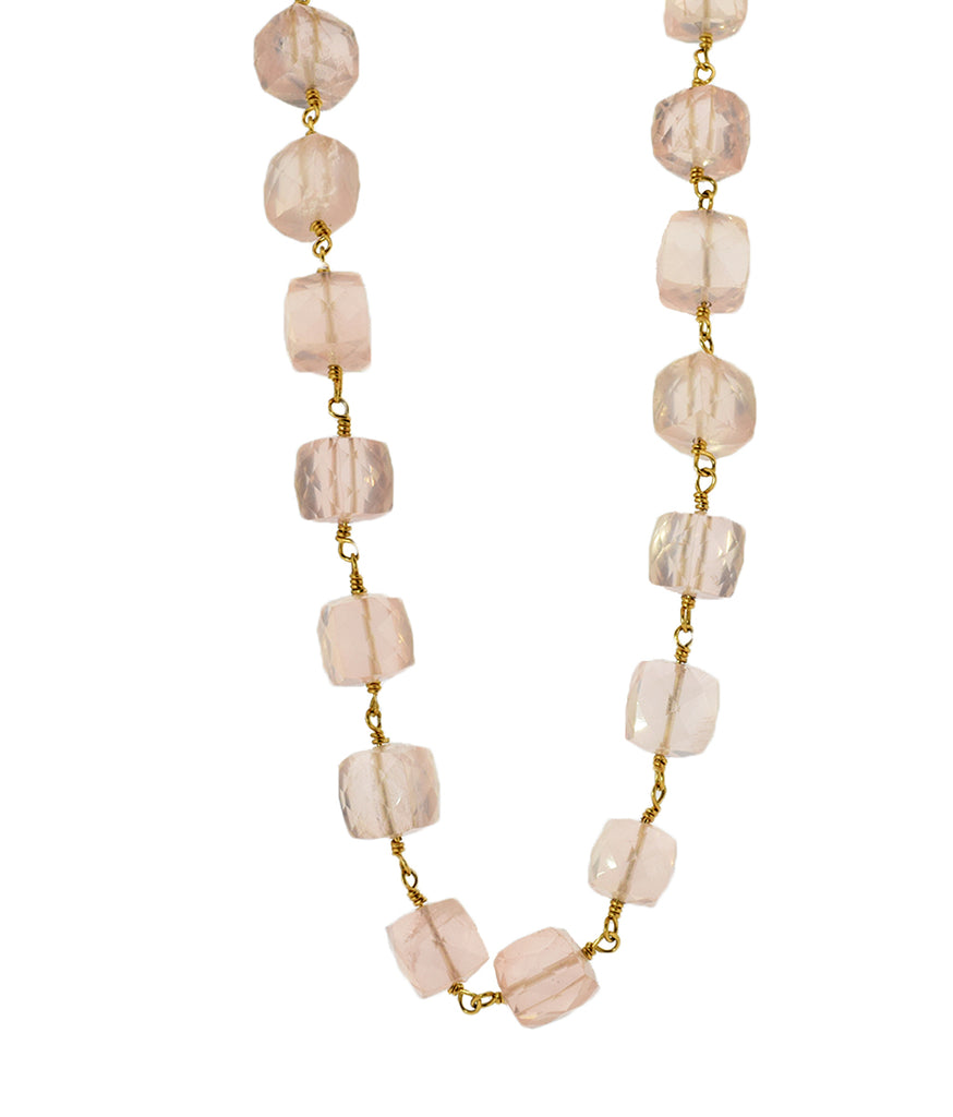 Pink Quartz Chunky Necklace