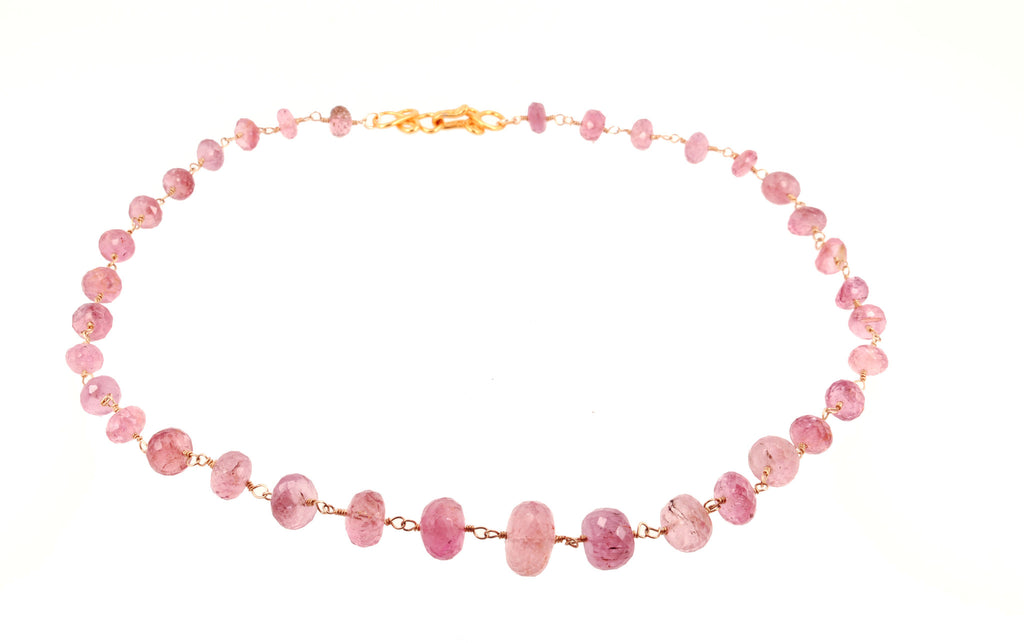 Pink Tourmaline Faceted Necklace