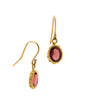 Pink Tourmaline 18K Greek Earrings