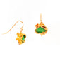 Chrysoprase Ruffle Earrings
