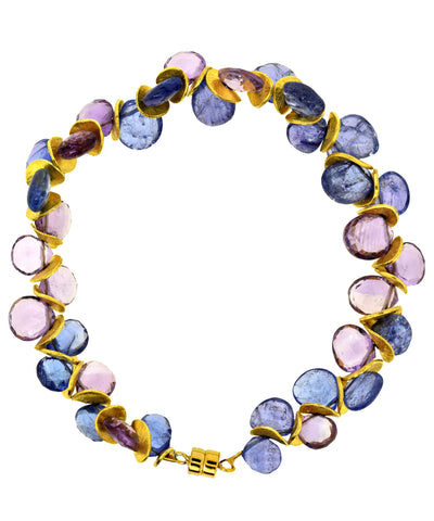 Signature Bracelet in Tanzanite and Amethyst
