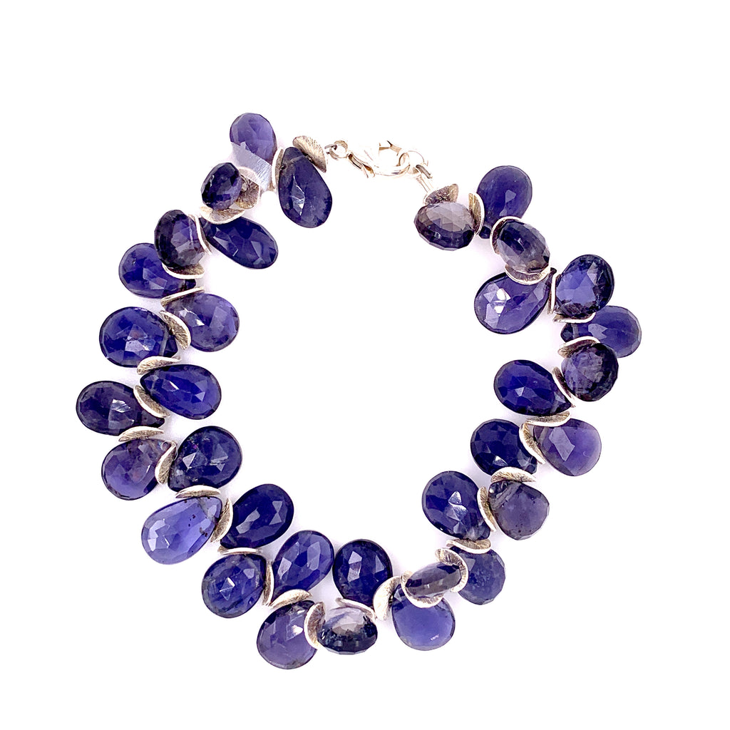 Signature iolite and sterling bracelet