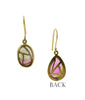Stained glass Watermelon Tourmaline Earrings