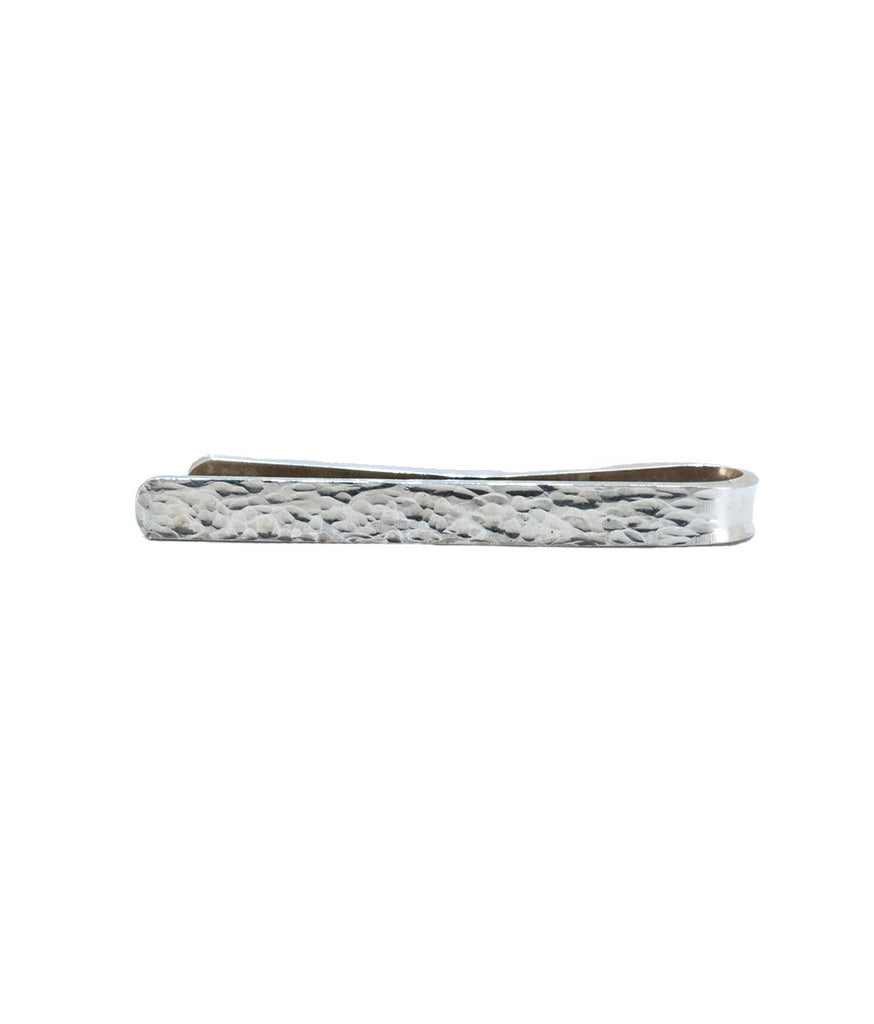 'Mad Men' Hammered Sterling Silver 925 Tie Clip II