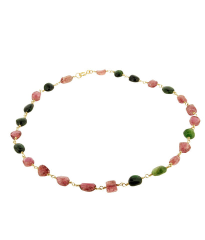 Tourmaline Chunk Necklace