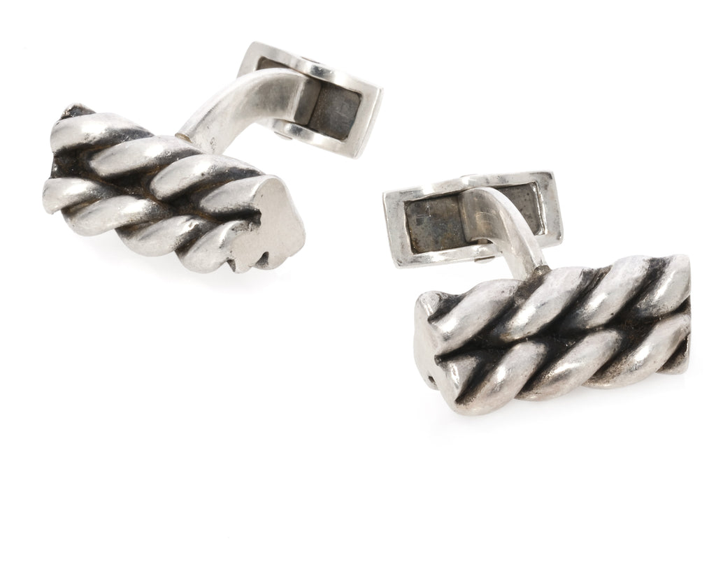Sterling Silver Twizzler Cuff Links