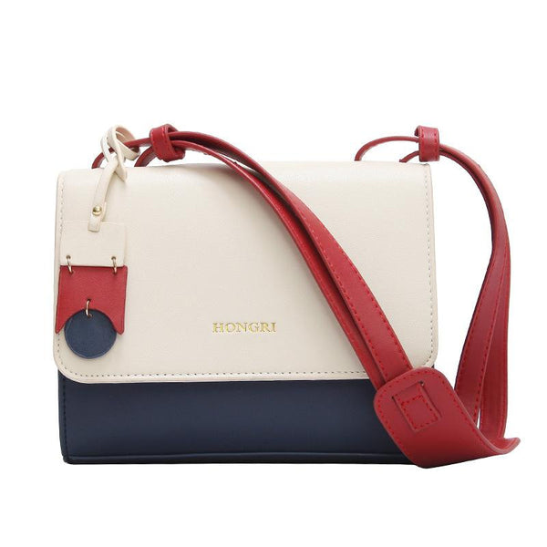 Women's Crossbody Bag Color Block Patchwork Faddish Buckle Bag