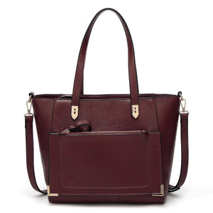 Leather Satchel Purses Women Shoulder Tote Handbag