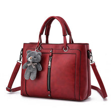 Load image into Gallery viewer, Totes Zipper Bear Strap Yarn Office Shopping Crossbody Shoulder Bag