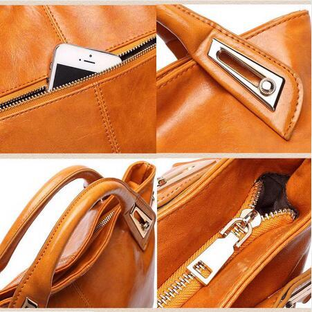 Oil Wax Leather Designer Shoulder Bags