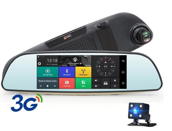 Android 3G Car DVR Mirror FHD 1080P Auto Dash Cam GPS