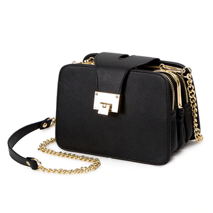 Three Layer Chain Strap With Metal Buckle Clutch Bag