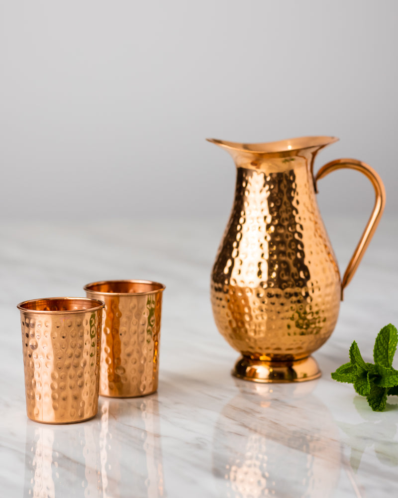 Pure Copper Jug - 2 and 1.5 Litres capacity