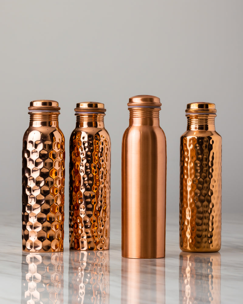 Hammered Pure Copper Water Bottle