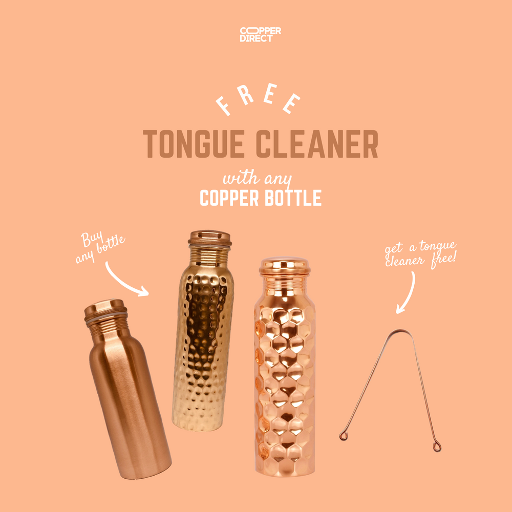 Diamond Pure Copper Water Bottle