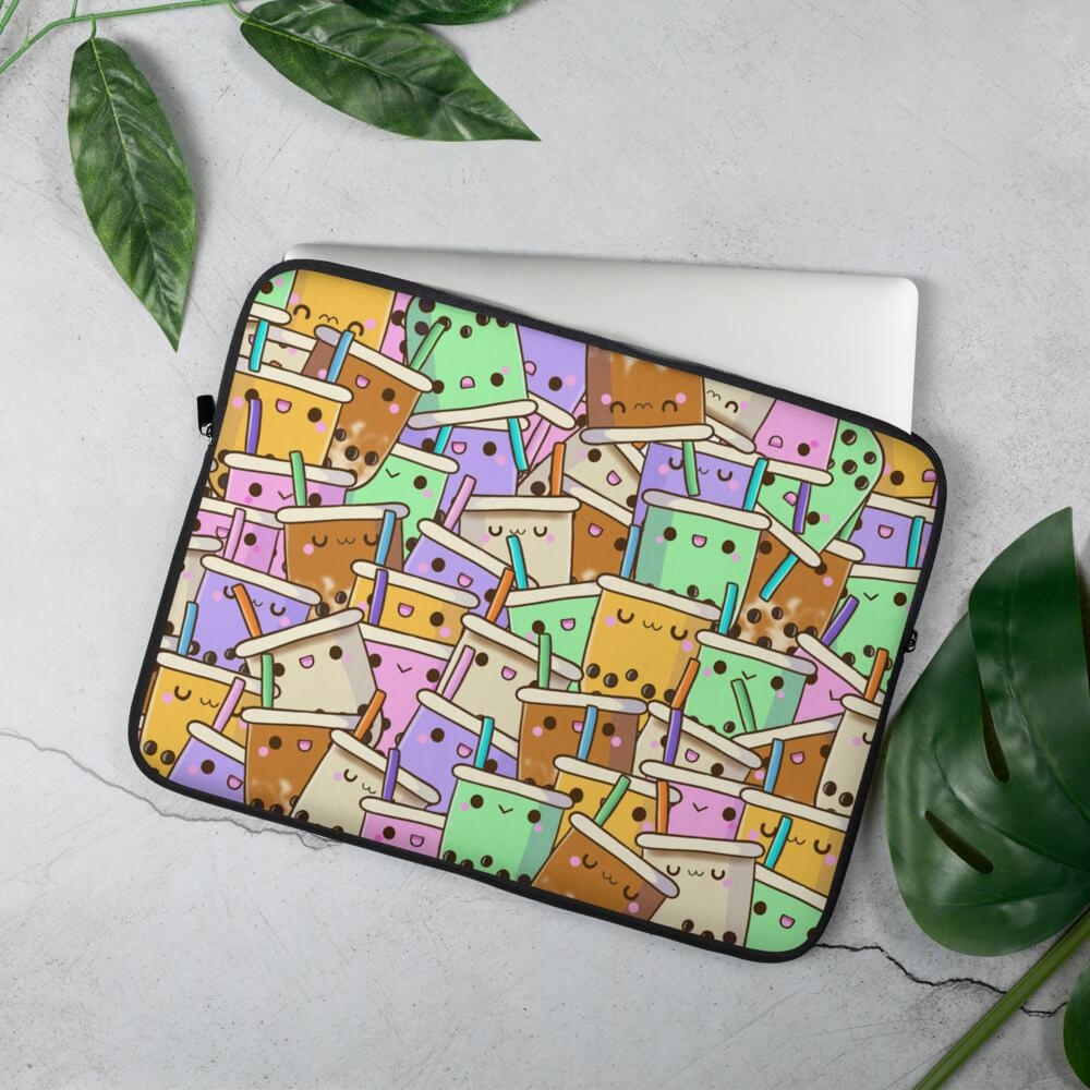 Boba Collage Laptop Sleeve Bubble tea Boba Tea