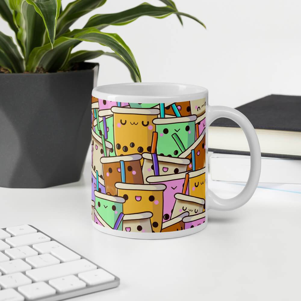 Cute Boba Collage Mug Bubble tea Boba Tea