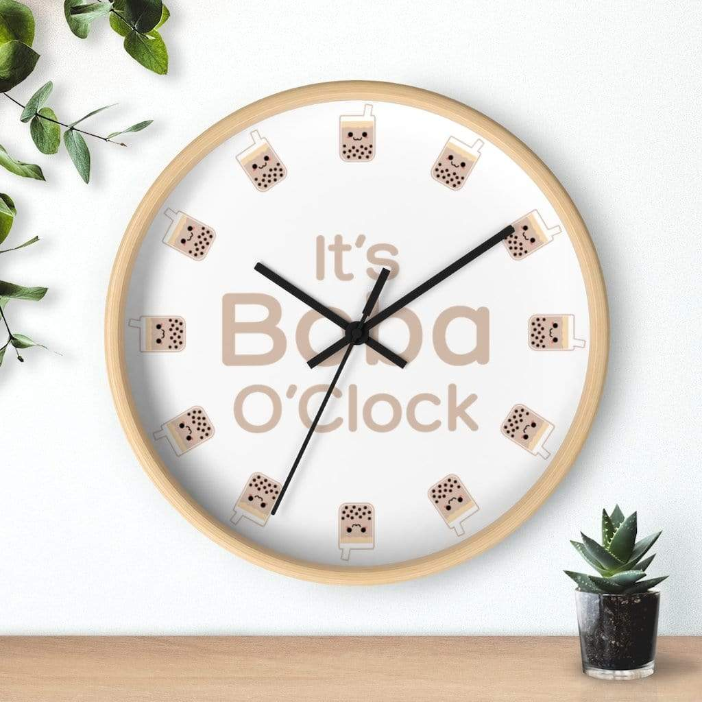 Wall clock Bubble tea Boba Tea