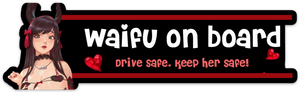 """Waifu on Board"" Bumper Sticker"