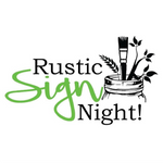 Rustic Sign Night