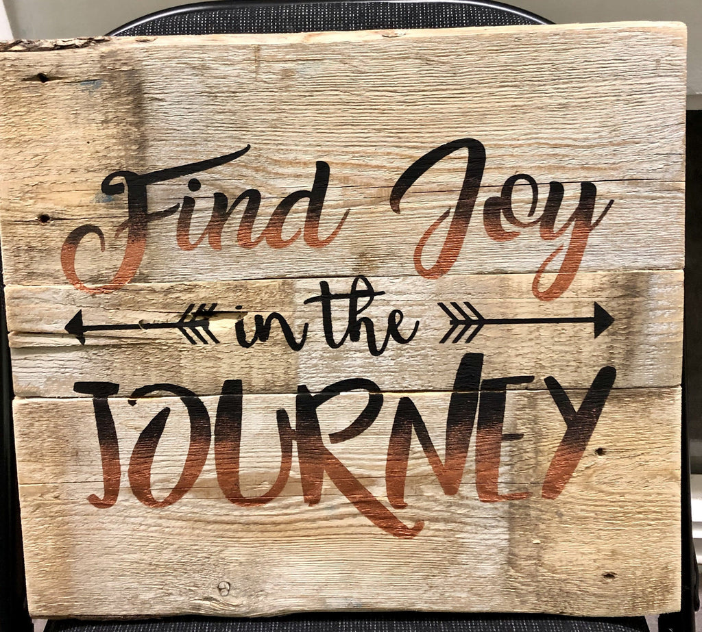 Find Joy in the Journey - Farmhouse Wooden Sign Craft Kit